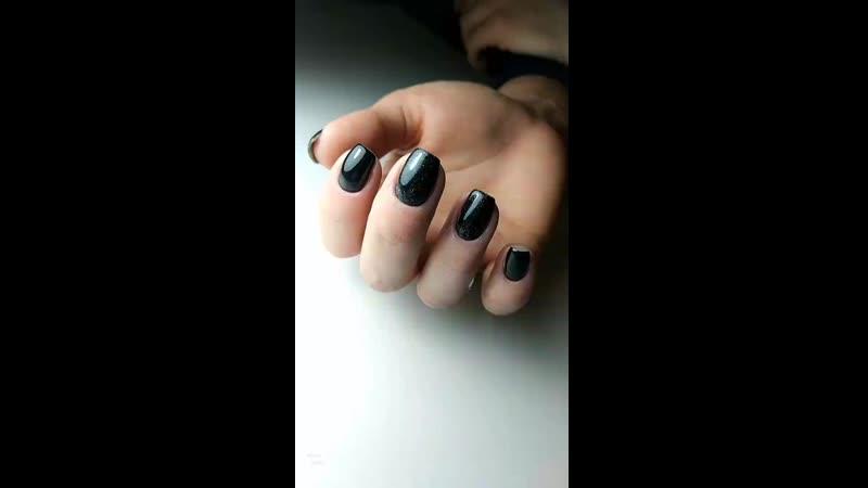 Идеальные чёрные ногти 🖤