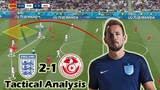 How Harry Kane Saved The Day England vs Tunisia 2-1 Tactical Analysis World Cup
