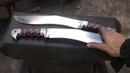 Forging a Kukri knife set.