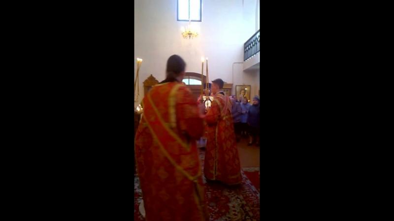 Служба на престольный праздник в храме Георгия Победоносца