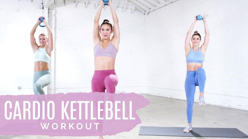 Лучшая кардио тренировка с гирей для ускорения обмена веществ. The Best Metabolism-Boosting Cardio Kettlebell Workout