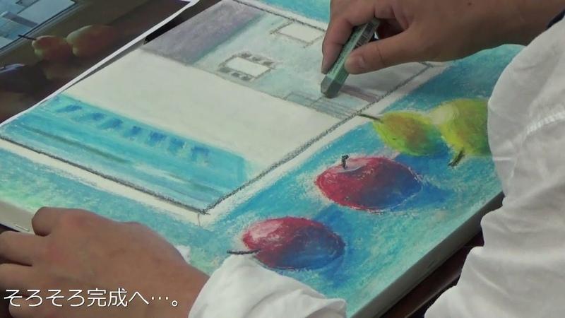サクラアートサロン大阪「クレパス技法 『無彩色青』で描く ―静物編821