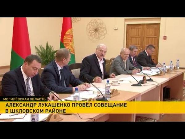 Итоги рабочей поездки Александра Лукашенко в Шкловский район