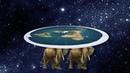 Земля была плоская и стояла она на 2 слонах