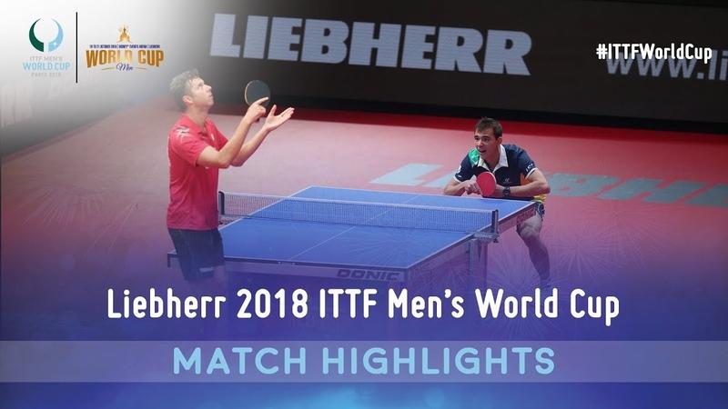 Vladimir Samsonov vs Hugo Calderano I 2018 ITTF Mens World Cup Highlights (Group)