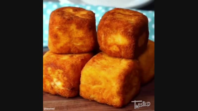 Кубики из пюре с начинкой - Личный повар