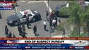 END OF POLICE CHASE People living in Los Angeles neighborhood watch end of pursuit. LAPD
