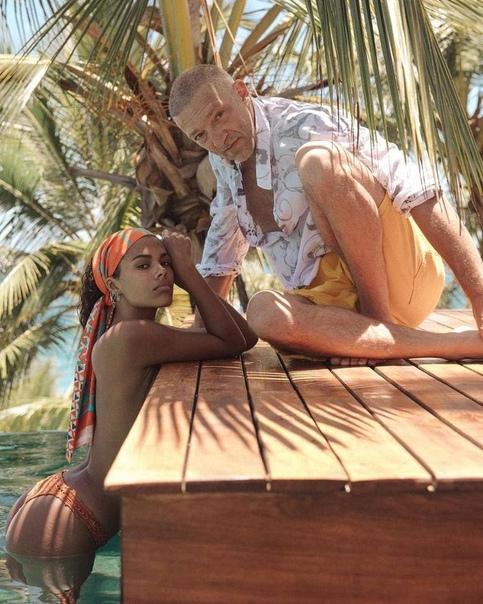СМИ: Тина Кунаки и Венсан Кассель ждут ребенка