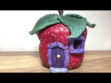 DIY DAS Paper Clay Strawberry Fairy House Night Light Lantern , How To Make