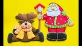 Manualidades Creativa. Papa Noel, Pajarera y Reno paso a paso - Craft DIY manualidad navidad en foamygoma evamicroporoso