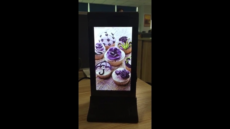 FYD-835S WIFI 7 Inch LCD Table Advertising Player Restaurant Power Bank