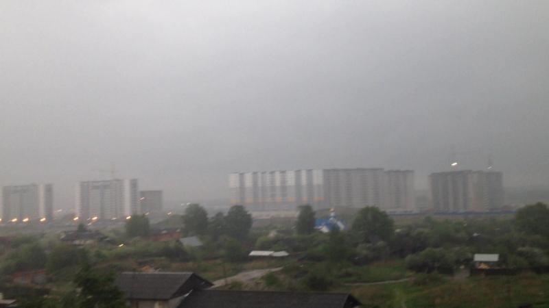 Вечерний дождь ( 2) Горелово. 18 мая 2018. ( Юг - Спб)