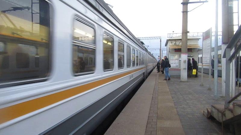 Электропоезд ЭД4М-0487 ЦППК станция Бекасово-1 20.03.2019