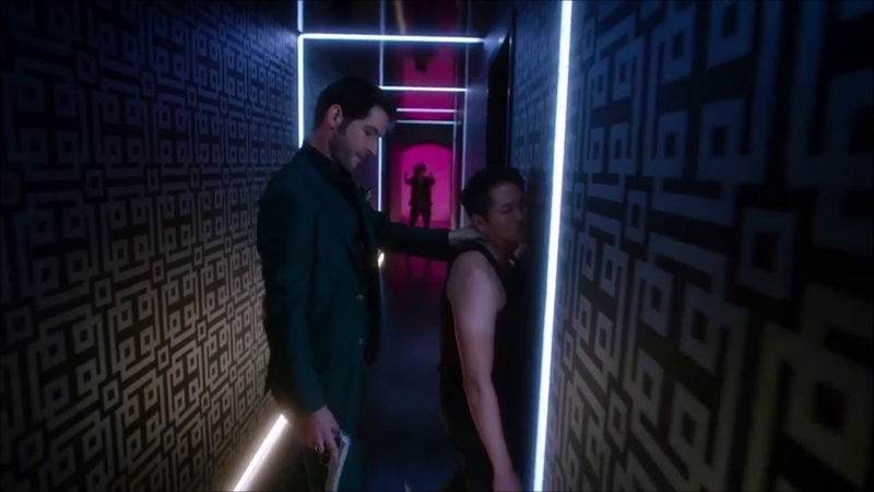 Lucifer s03e13 fight in korean karaoke club