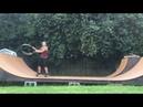 Hula hoop and skateboarding 1