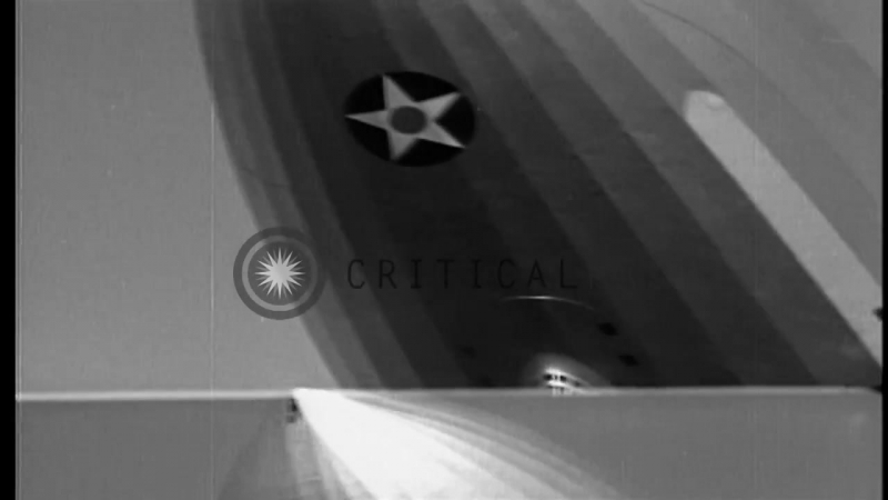 USS Akron zeppelin dirigible in flight and trapeze hook equipped Consolidated Stock Footage