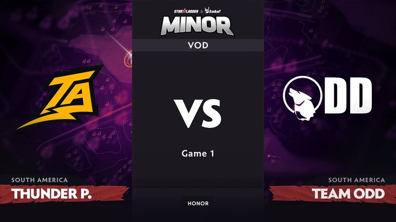 [RU] Thunder Predator vs Team Odd, Game 1, SA Qualifiers, StarLadder ImbaTV Dota 2 Minor