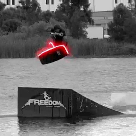 "Pierre Papey on Instagram ""💡💡💡 on Andrew Original clip @andrewpastura  wakeskate wakepark wakeboard wakeskating neonlights skateclips mywa..."