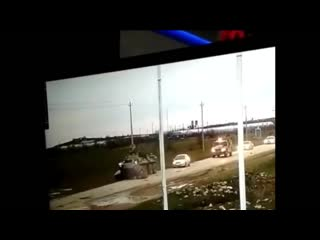 ДТП в Зеленоморске (Дагестан) LADA (ВАЗ) 2114 против БТР