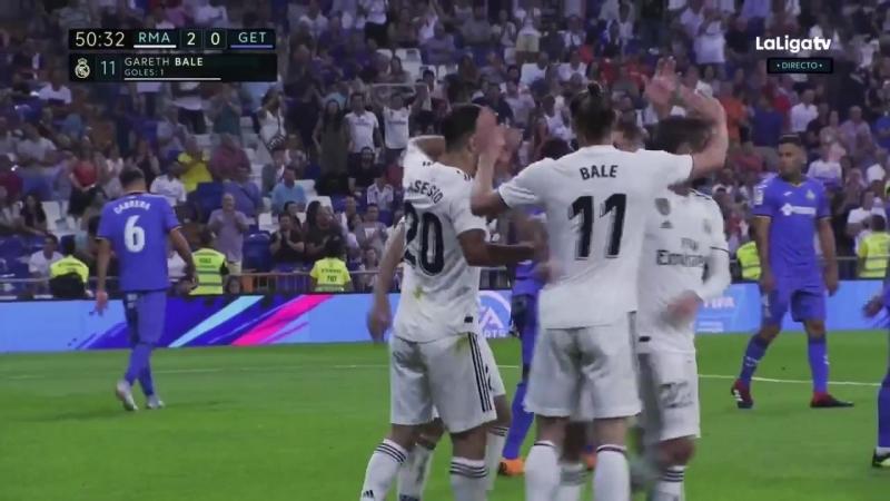 Реал Мадрид - Хетафе 2:0 Гол Бейла
