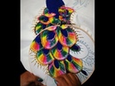 Como bordar los ojitos de un pavoreal (plumaje)