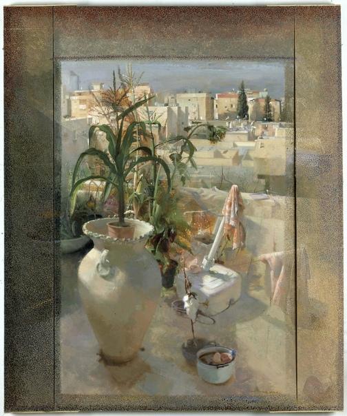 Sigal Tsabari ( 1966 г.р.) училась у Израиля Хершберга до создания Иерусалимской студийной школы, разработала уникальный живописный язык, как технически — в ее цветовой палитре, так и в