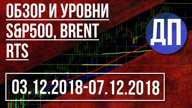 Обзор и уровни SP500, Brent, RTS c 03 12 18 по 07 12 18