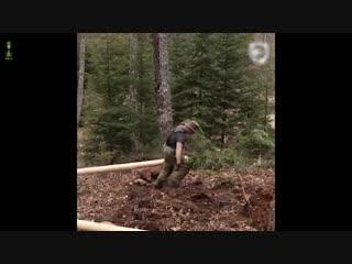 В одиночку построил себе домик в лесу! Как вам