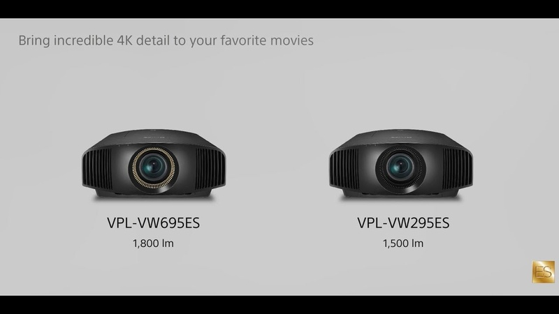 Sony | The Features and Benefits of the VPL-VW695ES and VPL-VW295ES 4K Projectors
