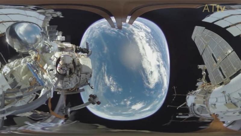 Квадратная Земля! На официальном видео с МКС