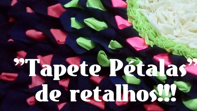Passo a passoTapetes de retalhos Pétalas tapete de porta Tapete Frufru waste clotes Petals