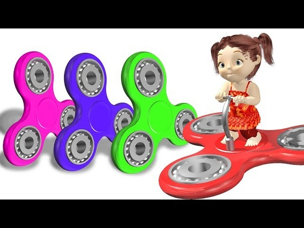 💚💙❤️Learn Colors with 3D Fidget Spinners Vehicle for Kids💚💙❤️