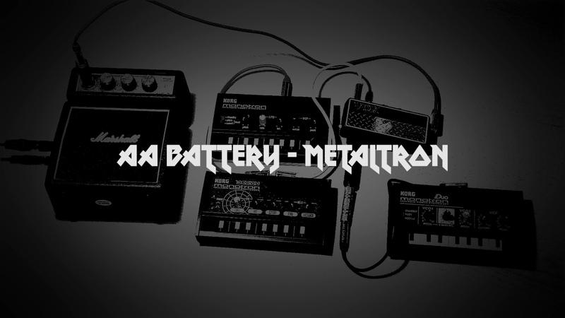 AA Battery - metaltron (Korg monotron, delay, duo, VOX amplug 2 metal)