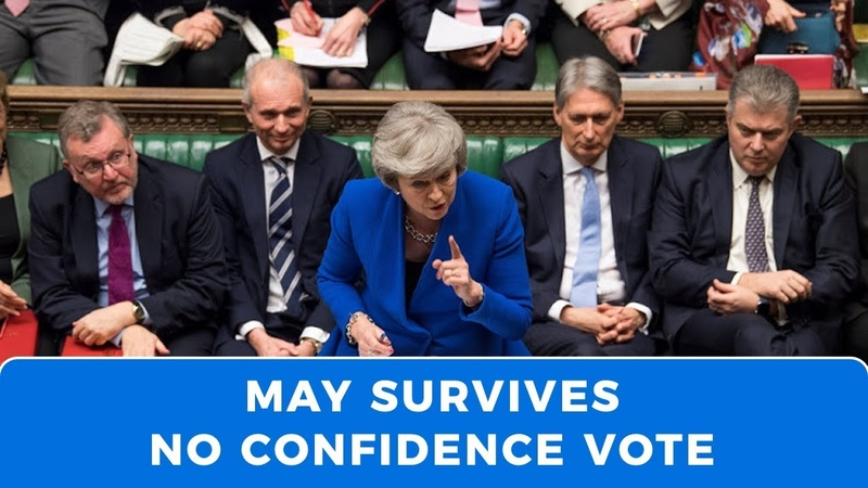 May survives no confidence vote as UK moves towards March 29 deadline or Article 50 extension