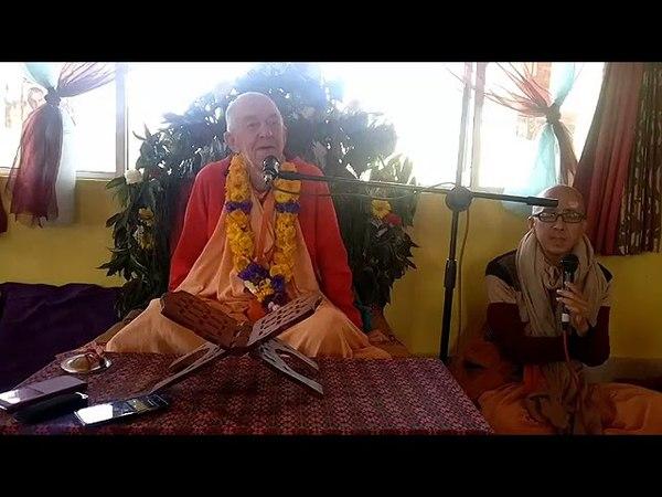BVV Narasimha Swami, Jayapataka Swami Maharaj Vyas Puja Glorification, Nepal 27.03.2018