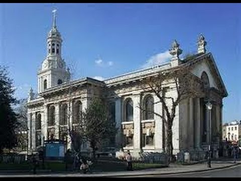 Inside the historic church of St Alfege, Greenwich (London, England)