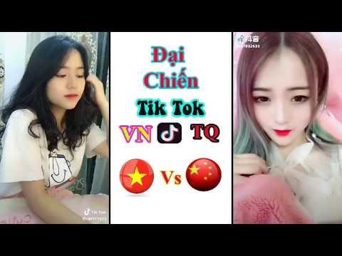 Việt Nam và China con gái nước nào xinh hơn | Đại chiến Tik Tok