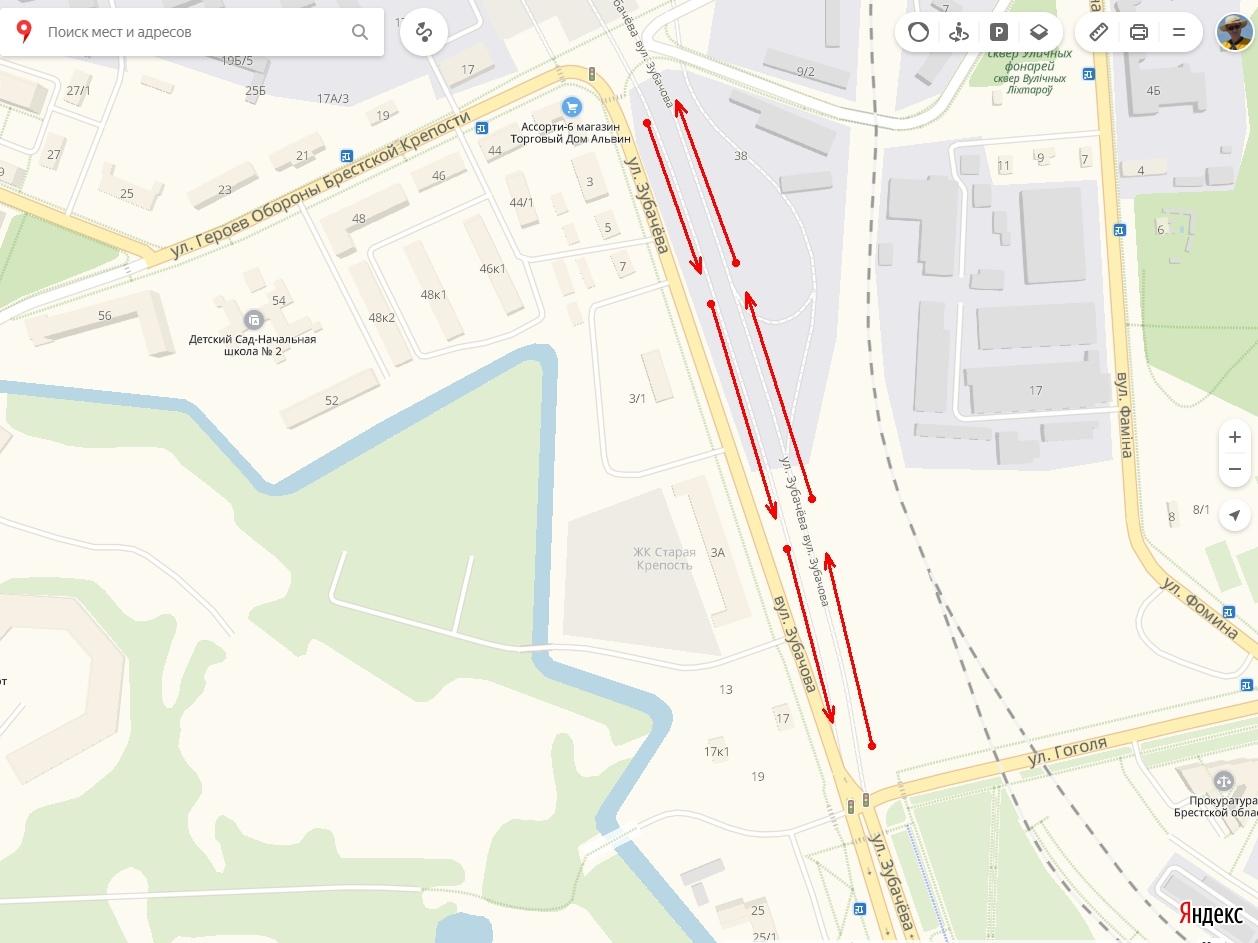 На ул. Зубачёва изменена организация дорожного движения