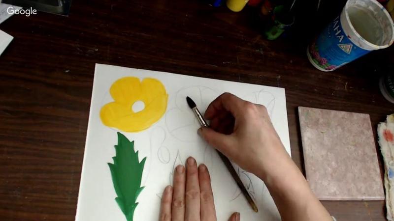 Курс свободно-кистевой росписи. Урок 3. Полевые цветы.