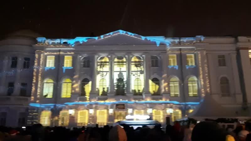 3D маппинг шоу на Горьковской ёлке