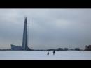 Уходящая натура Прогулка по льду Финского залива