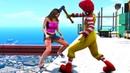 Ronald McDonald in GTA 5 Crazy Jumps Falls Ragdolls Euphoria physics Funny Moments