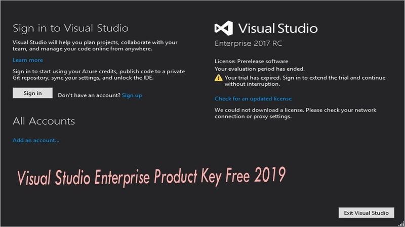 Visual Studio License key Expired Issue For All Versions 100% Working 2019