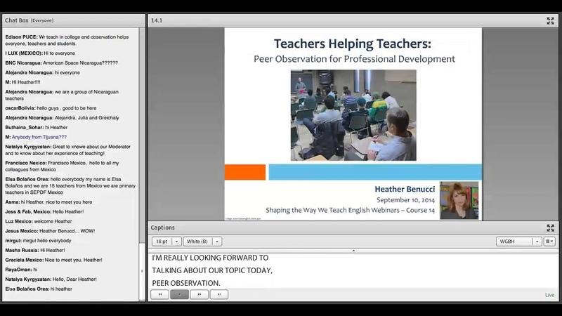 Teachers Helping Teachers: Peer Observation for Professional Development