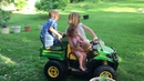 Mommy taking the kids for a ride Easter 2017