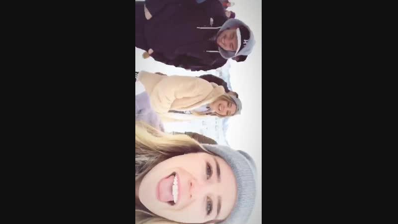 Времяпровождение с друзьями на горнолыжном курорте Mammoth Mountain (9.12.2018)