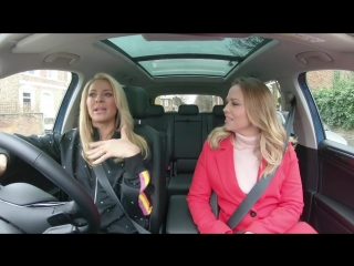 In the Volkswagen Tiguan Allspace with Tess Daly  Kimberley Walsh