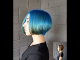 Ocean Beach Синие голубые волосы окрашивание HAIR_MUSIC_STYLE