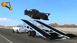 BeamNG.drive - High Speed Ramp Trailer Crashes #2