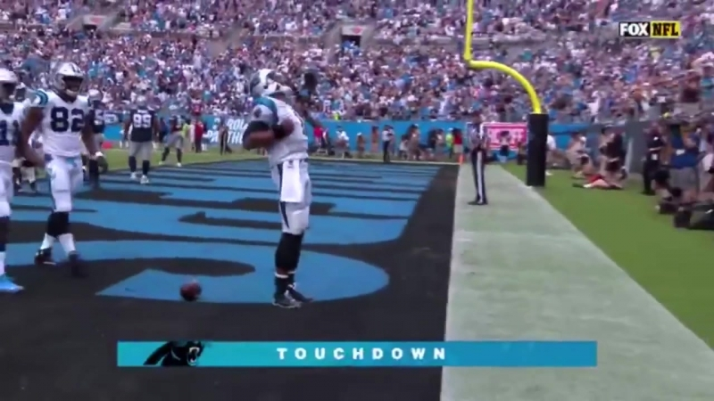 Cam Newton runs for a TOUCHDOWN ( Dallas Cowboys vs Carolina Panthers )